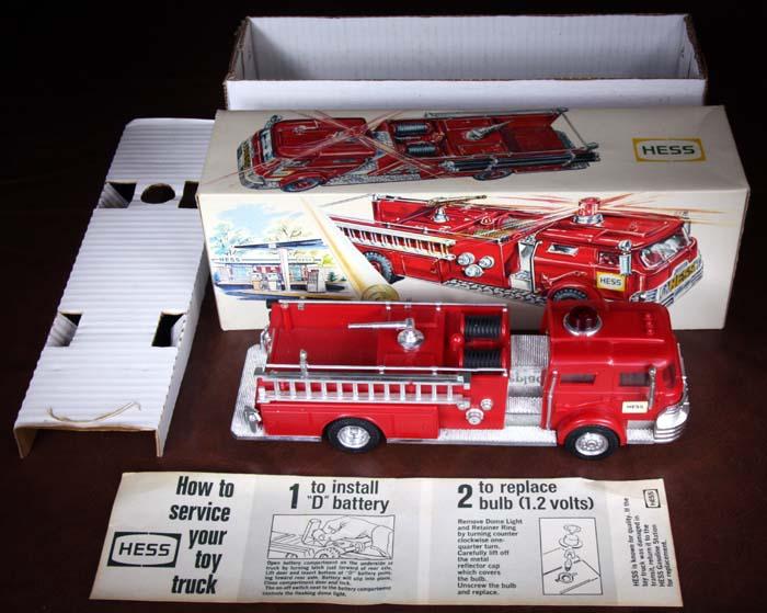 1970 Hess Fire Truck