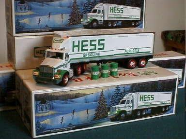 1987 Hess Truck and Barrels