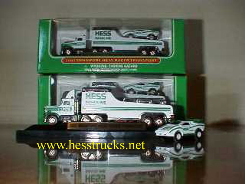 2001 Hess Miniature Truck and Racer