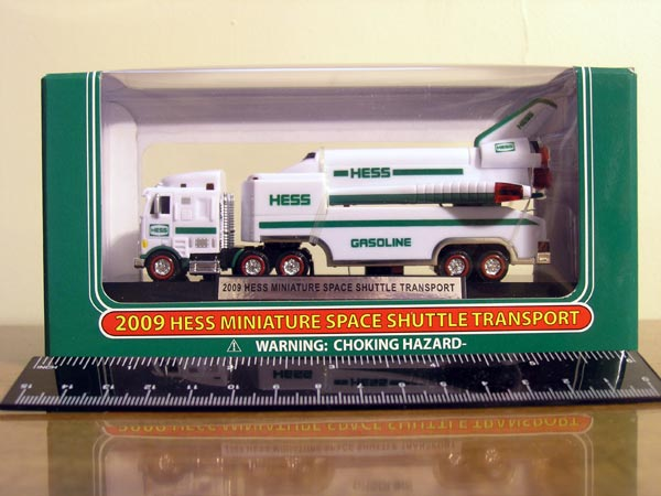2009 Hess Miniature Truck and Space Shuttle
